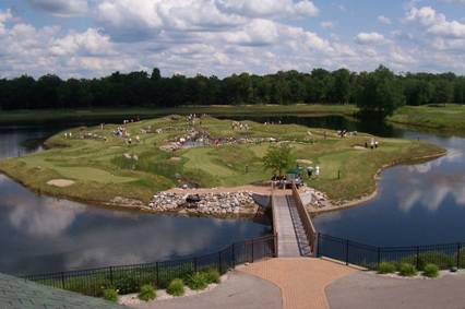 Photo Of Bucks Run Putting Island At Michigan Golf Courses - Bucks Run Golf Club