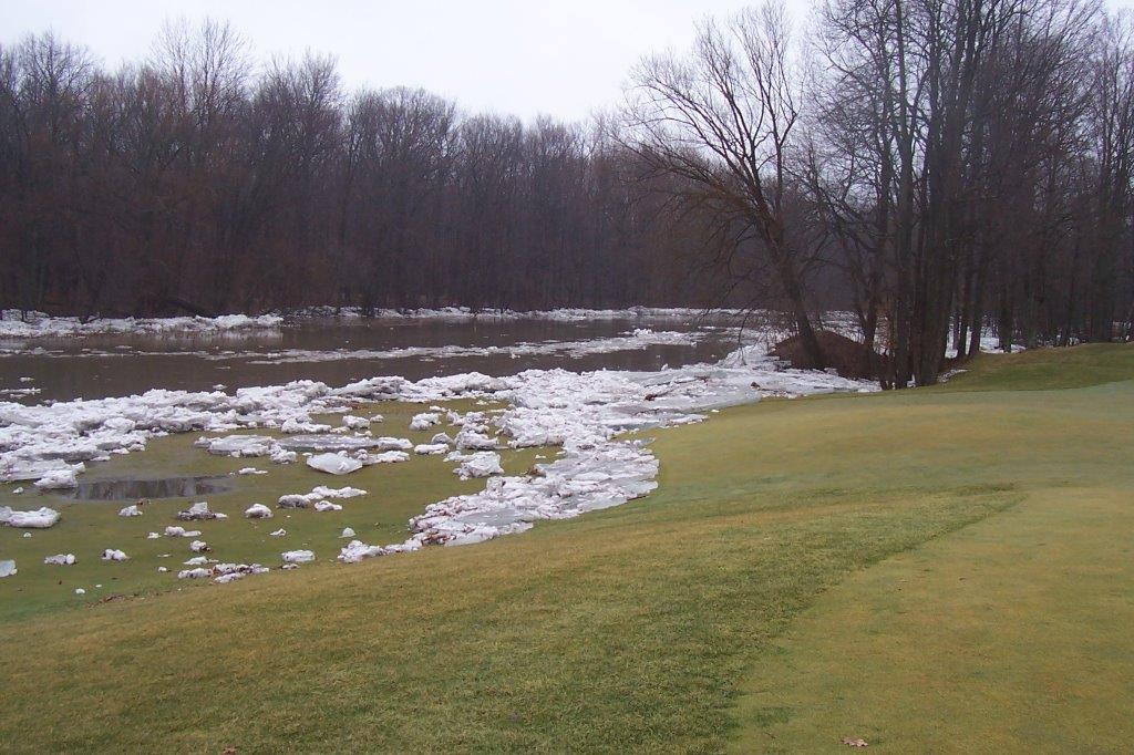 Bucks Run Golf Club Mount Pleasant MI Chippewa River Ice Dam