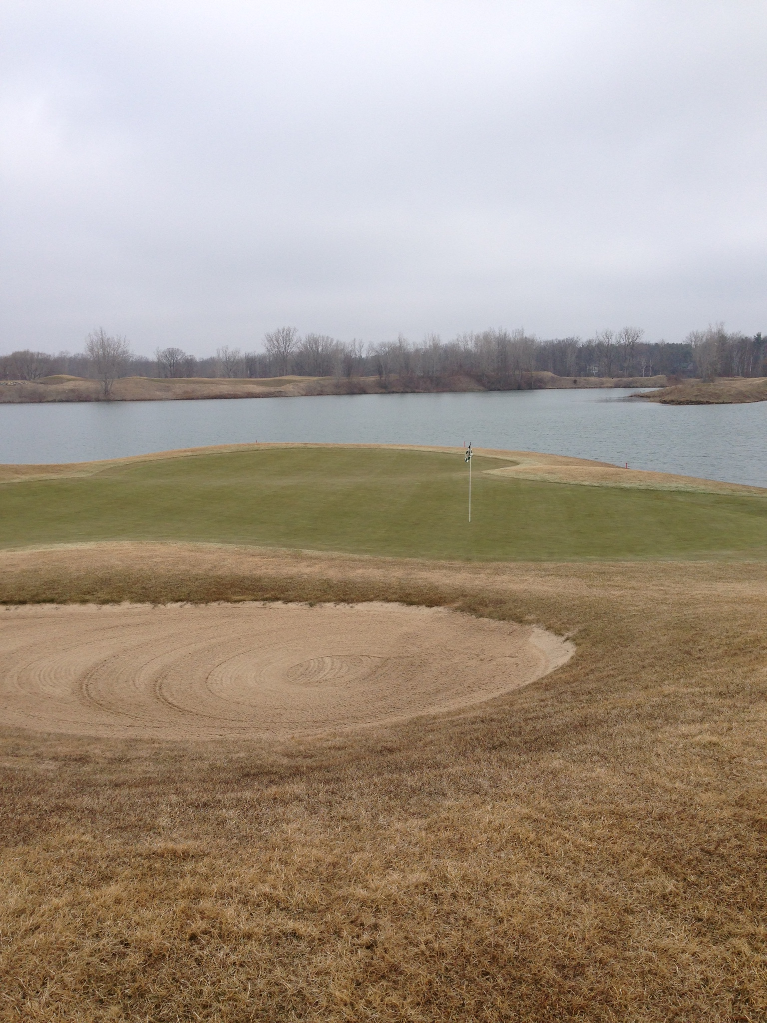 Bucks Run Golf Club Mount Pleasant MI Grass After Winter