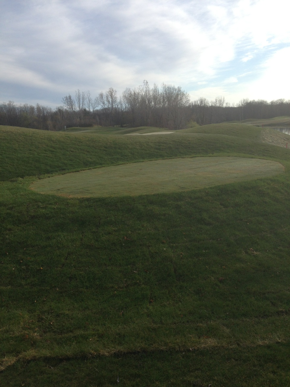 Bucks Run Golf Club Mount Pleasant MI Tee 14 Renovation